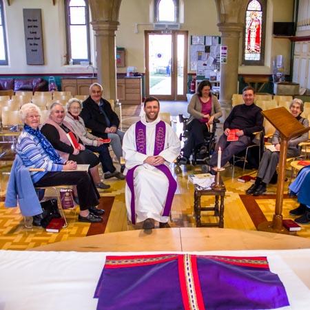 PHoto of a Thursday communion